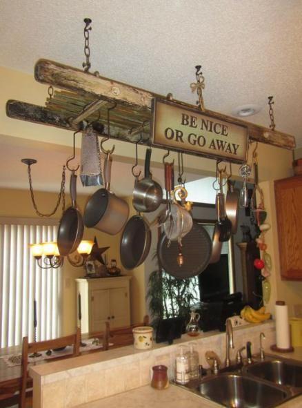 Best Kitchen Shelves Hanging Pot Racks Ideas Pot Rack Hanging Pot Rack Rustic Kitchen Pots and pan ceiling racks