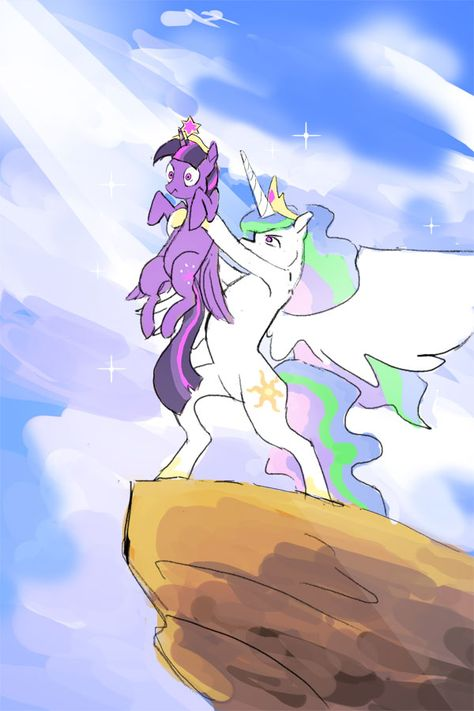 My Little Pony: Friendship is Magic meets The Lion King - Circle of Royalty by on deviantART. Princess Twilight Sparkle and Princess Celestia. Dessin My Little Pony, My Little Pony Comic, My Little Pony Drawing, My Little Pony Pictures, Mlp My Little Pony, My Little Pony Friendship, Equestria Girls, Powerpuff Girls, Princesa Twilight Sparkle
