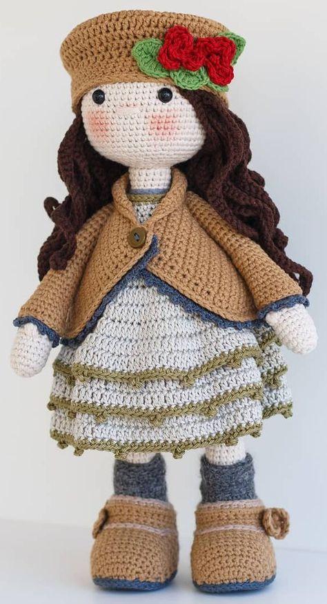 12+ Free Crochet Doll Clothes Patterns | FaveCrafts.com | 875x474