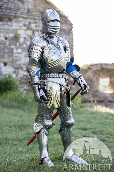 Third generation of functional Gothic knight armor set for SCA and medieval reenactment by ArmStreet.