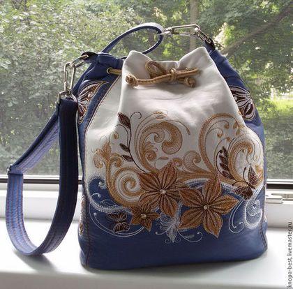 00ac2f0295cc Женские сумки ручной работы. Ярмарка Мастеров - ручная работа. Купить Сумка  торбочка из натуральной кожи для Анны. Handmade. Разноцветный