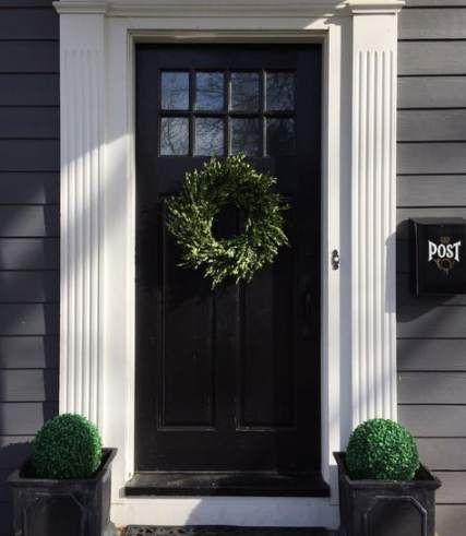 27 Ideas For Black Door Frame Simple Colonial Front Door Front Door Trims Exterior Doors