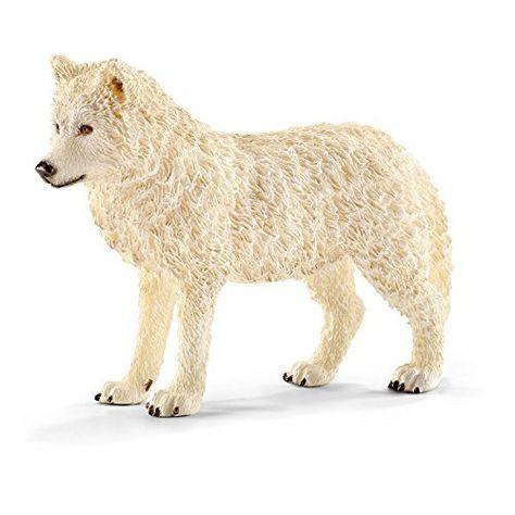 NEW Papo White Grey Polar Wolf Ice Snow Wild Figure Zoo Arctic