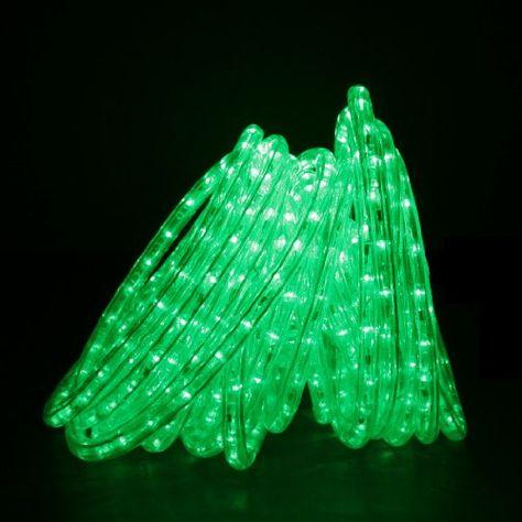 DirectLighting RLWL50GRN Green 50ft LED Rope Light -- Click image to