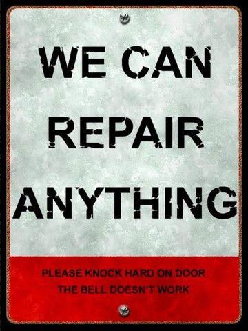 Auto Repair Price List Metal Sign Mechanics Humor Modern Mancave