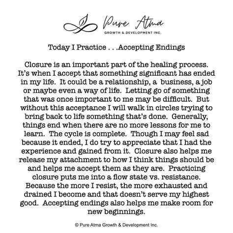 "Have you found that #affirmations don't really work for you? I had the same challenge. Try this #lifestrategy instead; it's called ""I Practice"". Practicing something helps you build #strength and #resilience and long-lasting #mindhabits. This week's life strategy is ""Accepting Endings"". Practice this for a week and let me know how it goes for you. #affirmations #growthmindset #lifestrategies #resilience #positivepsychology #spiritualawakening #selfrespect #respectyourself"
