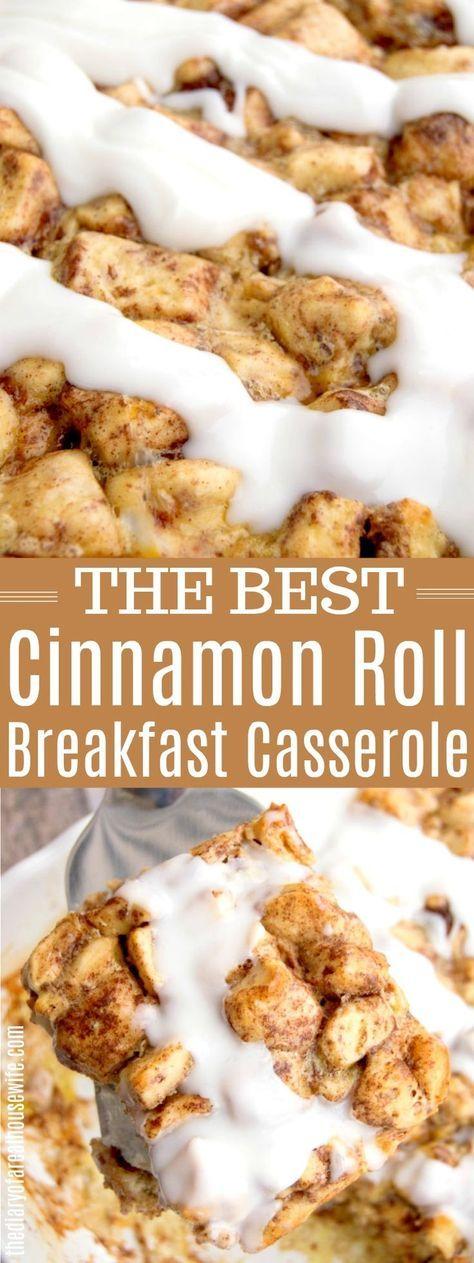 Cinnamon Roll Breakfast Casserole #breakfast #christmasbreakfast #christmasrecipe #cinnamonroll