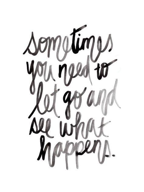 Let go. Art Print by Hello Monday: