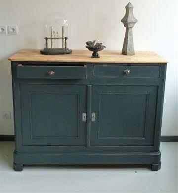 Les idées de Delphine Pierre (ddpierre1) sur Pintesrest - meuble en bois repeint