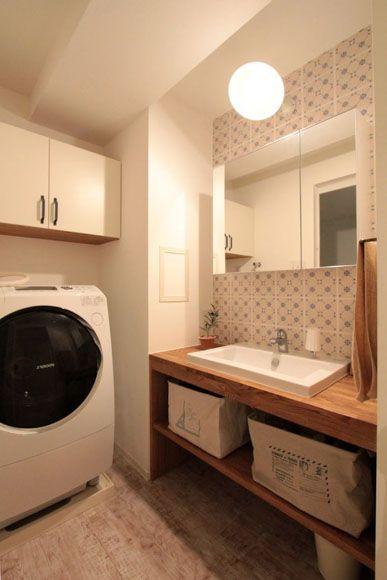 洗面台をdiyで交換するためのナチュラルなアイデア 水栓や鏡も