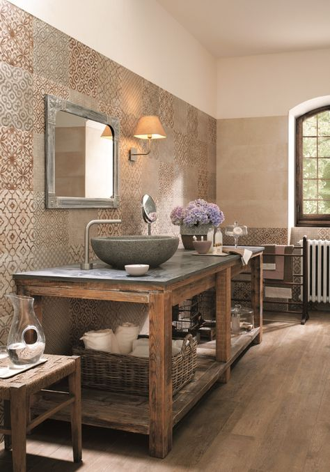 Vintage character with modern touches: Creta #tiles by FAP ceramiche #bathroom @fapceramiche