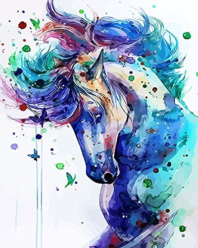Horse Paint By Number Kits Abstract Horse Painting Watercolor