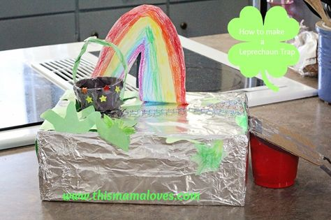 How to make a Leprechaun Trap for St. Patrick's Day!