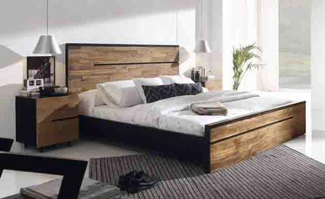 Holzbett AVANA aus Teak Dekoration Beltrán, Ihr Webshop für - schlafzimmer afrika style