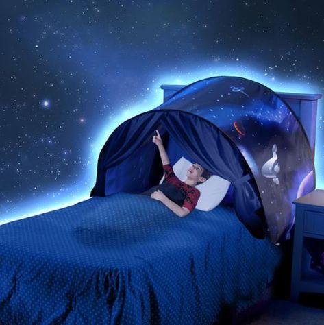 tente de lit pop up pour enfant avec lumire licorne hiver espace dream tents offrez votre enfant des nuits magiques remplies de beaux rves avec - Tente De Lit