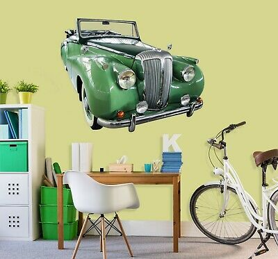 3d Traffic Car Green G129 Car Wallpaper Mural Poster Transport