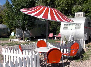 white picket fence-stiped umbrella