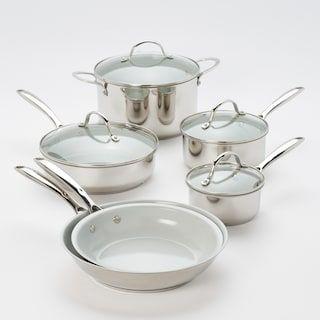Food Network 10 Pc Nonstick Ceramic Copper Cookware Set Copper Cookware Set Ceramic Cookware Cookware Set