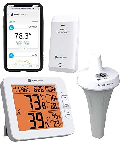 3 Best Wireless Pool Thermometer Floats W Smart Remote Wifi 1 Weather Station Temperature And Humidity Weather Instruments