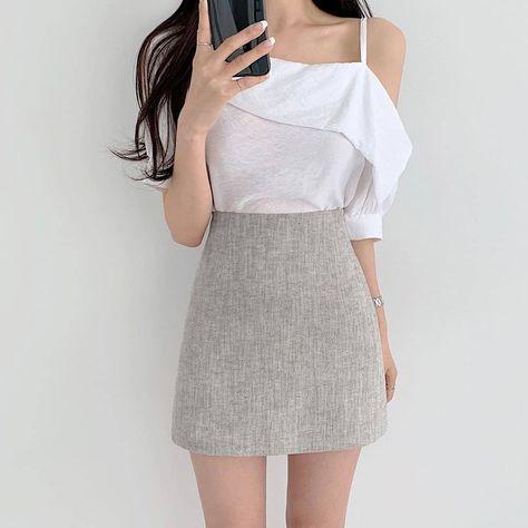 Woman soft clothing idea stylish summer 2021 sweet japanese amazon vsco school