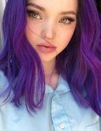 With Purple Hair Cameron Hair Girl With Purple Hair Purple Hair