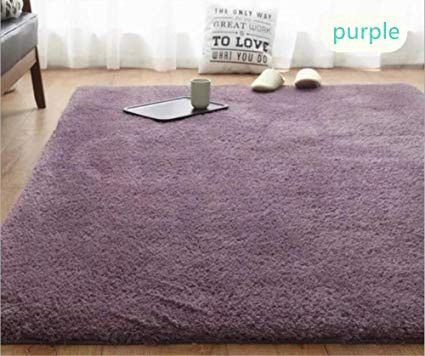 Purple And Brown Living Room Luxury Winlife Sherpa Area Rug For Living Room Non Slip Carpet Bedroom Bathroom Doormat 5 5 X 7 9 Purple