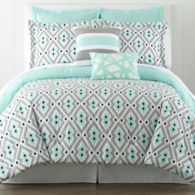 I love the fun bright colors! Happy Chic by Jonathan Adler Nina Comforter Set - JCPenney #jcpambassador #bh #ad
