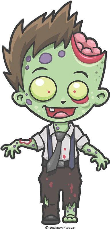 Zombie Boy Sticker By Yobeeno In 2021 Cute Zombie Zombie Drawings Zombie Cartoon