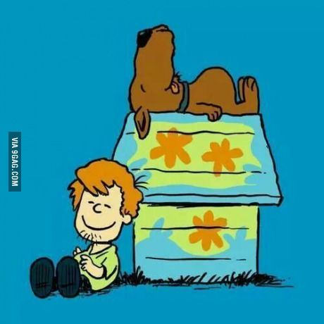 Scooby Doo as Charlie Brown and Snoopy Snoopy Love, Charlie Brown And Snoopy, Cartoon Cartoon, Trippy Cartoon, Cartoon Movies, Shaggy Y Scooby, Personnages Looney Tunes, Desenho Scooby Doo, Comic Cat