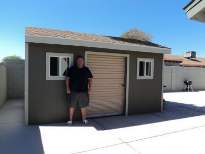 Put A Roll Up Shed Door On Your Awesome Shed Shed Doors Backyard Storage Sheds Shed