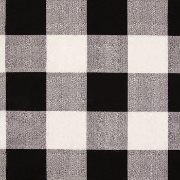 Navy White Sawyer Buffalo Check Duck Cloth Fabric Duck Cloth Buffalo Check Fabric White Upholstery Fabric