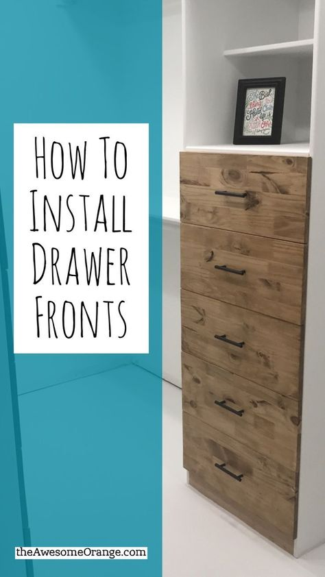 How to Install Drawer Fronts - Woodworking Tip from theAwesomeOrange.com #woodworking #tips #howto #tutorial #woodworkingforbeginners