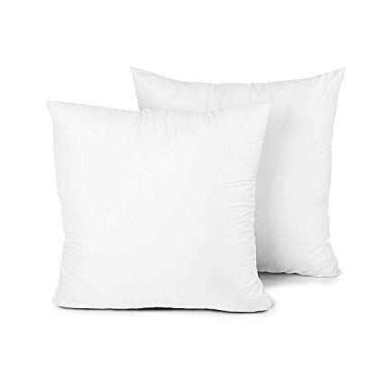 Throw Pillow Inserts 18x18 Inch Set of 4 Square Sham Form Stuffer Hypoallergenic Polyester Pillow Inners for Sofa Bed Couch