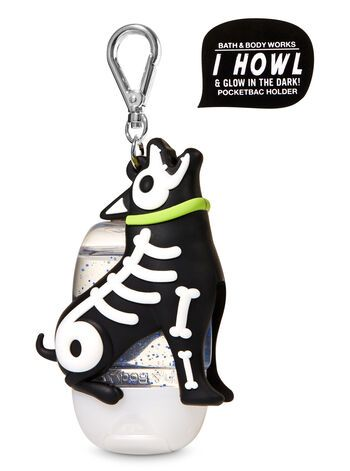Howling Skeleton Dog Pocketbac Holder Bath Body Works Dog