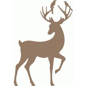 Silhouette Design Store: deer with bird friends
