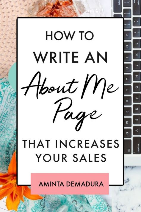 Free About Me Page Template for Bloggers