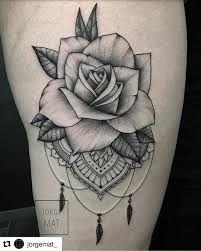 Bildergebnis Fur Mandala Rose Tattoo Mike Tattoos Rose Tattoos
