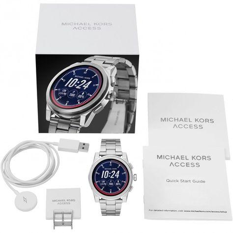 1558baac1a8e Michael Kors MKT5025 Access Silver Touch Screen Grayson Smartwatch 47MM   MichaelKors  Smartwatch