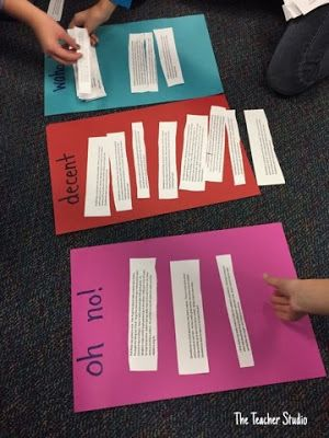 Learning about summarizing...by classifying! Check out this easy lesson that got us started talking about what makes a quality summary!