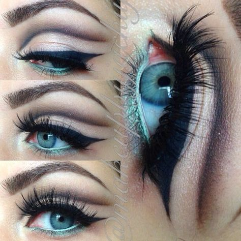 Keeping the retro theme going with a mod cut crease with a gorgeous @makeupbyjac