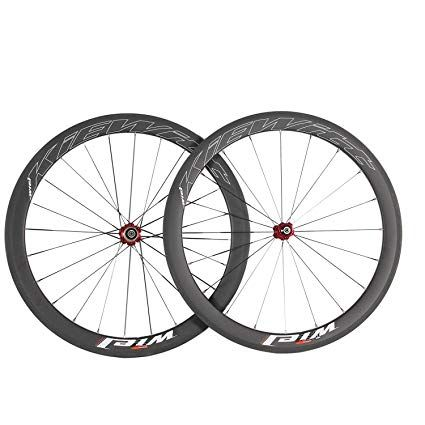 Wiel 700c 50mm Carbon Fiber Road Bike Tubular Wheels Bicycle