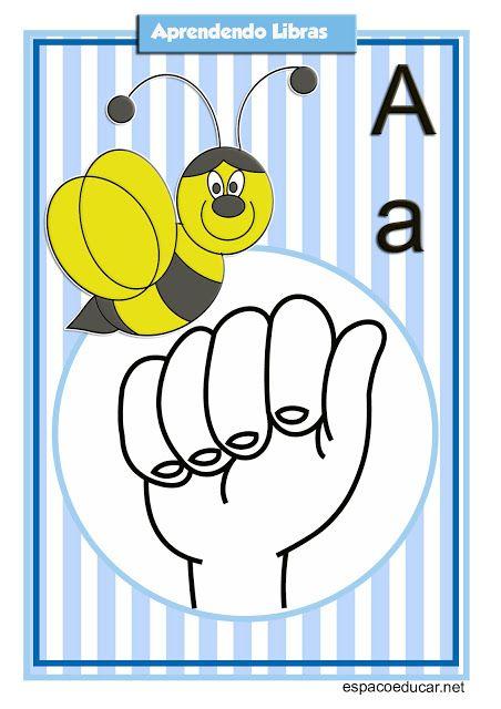 Espaco Educar Loja Alfabeto Ilustrado Em Libras Alfabeto