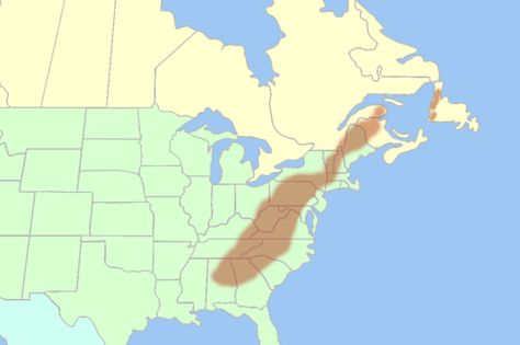 Appalachian Mountain range on US map View from the slopes of ...