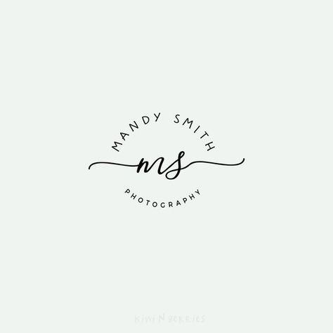 Initial logo - Name initial logo - Signature logo - Minimalist logo - Monochrome design - calligraph