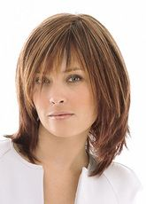 Brown Hair Wigs 2019 Women Layered Shoulder Length Synthetic Wigs - Milanoo.com