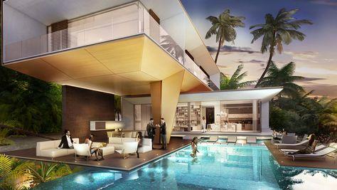 Floating Seahorse Villas, Dubai, developers 3D model Emirados - village expo portet sur garonn