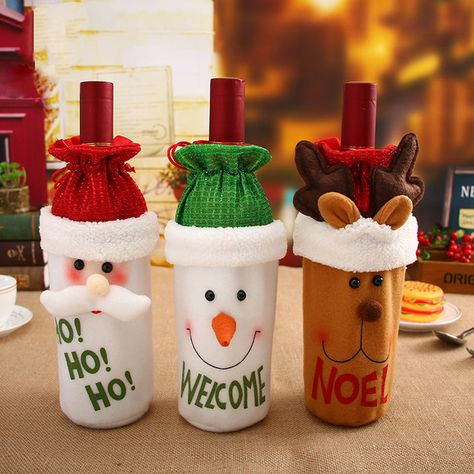 Misaya 1 Pieza Santa Claus Funda Para Botella De Vino Tinto Bolsas