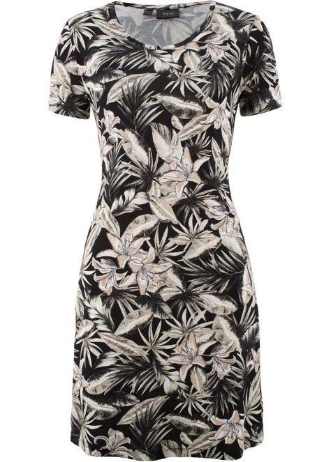 f682fbedd48ea Strečové úpletové šaty s květy, bpc bonprix collection