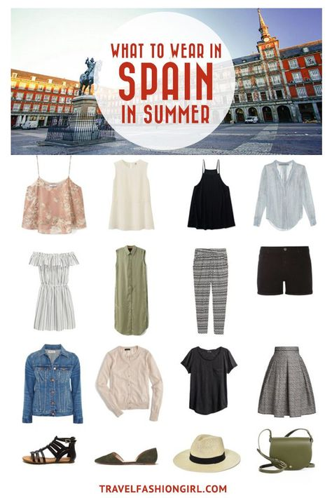 Traveling to Spain in the Summer? Use this comprehensive packing guide to help you pack stylishly light for destinations like Madrid, Barcelona and Girona. | travelfashiongirl.com