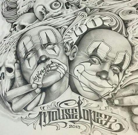 Arte Work By Chicano Tattoo Artist Mouse Lopez Tatuagem De